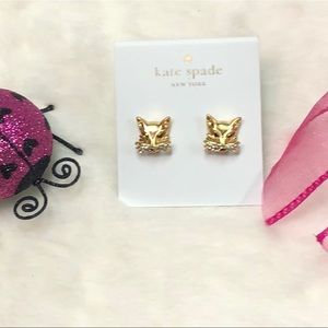 NWT KATE SPADE ♠️ SO FOXY EARRINGS